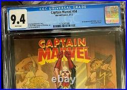 Captain Marvel 14 Cgc 9.4 1st App Kamala Khan Marvel Comics 2013 White Pages