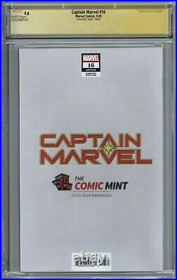 Captain Marvel 16 CGC 9.8 SS Comic Mint Virgin Edition Peach Momoko Cover COA