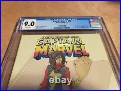 Captain Marvel #17 2nd Print CGC 9.0 1st Costumed Kamala Khan Ms Marvel 2014