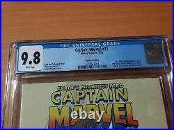 Captain Marvel #17 2nd Print Variant 1st Kamala Khan Low Print Run CGC 9.8