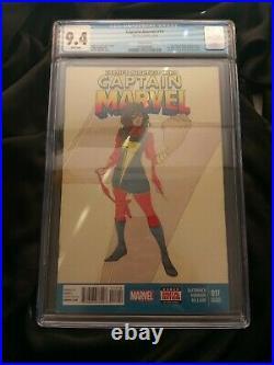 Captain Marvel #17 2nd Print Variant CGC 9.4 1st Appearance Kamala Khan