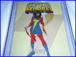 Captain Marvel #17 Second Printing CGC Universal Grade 9.4 Kamala Khan Cover 2nd