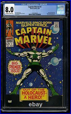 Captain Marvel (1968) #1 CGC VF 8.0 1st Solo Title & 3rd app! Comic