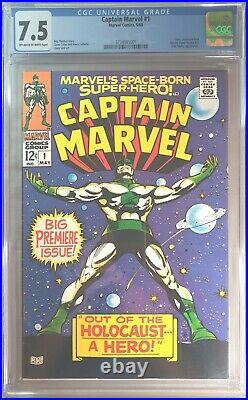 Captain Marvel #1 CGC 7.5 (1968) First self titled comic Great looking cover