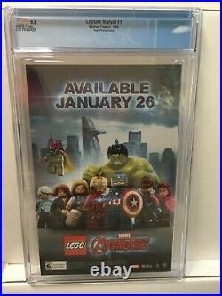 Captain Marvel 1 CGC 9.8 NM/M Adam Hughes 125 variant cover Marvel Comics 2016