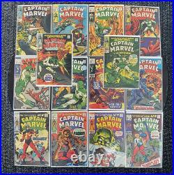 Captain Marvel #2-#20 Marvel Comics Silver Age Lot Of 14 VG-VG/FNMANY KEYS