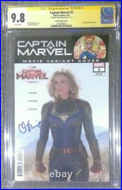 Captain Marvel #2 photo cover variant CGC 9.8 SS Signed by Brie Larson