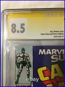 Captain Marvel #4 And Submariner Comic (CGC 8.5) signature series Stan Lee 8/68