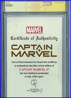 Captain Marvel #7 Glow In The Dark Variant Cgc 9.9 Ss J Scott Campbell Vip Label