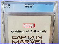 Captain Marvel #7 SDCC J Scott Campbell Glow In The Dark Cover CGC 9.8