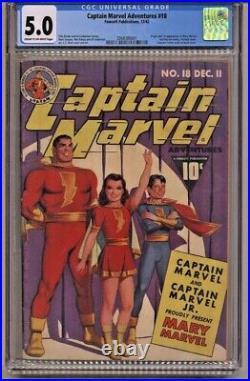 Captain Marvel Adventures #18 CGC 5.0 Fawcett Comics 1st Appearance Mary Marvel