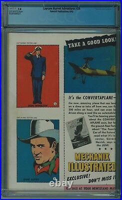 Captain Marvel Adventures #24 Cgc 7.0 Racially Insensitive Wwii Cvr Ow Pgs 1943