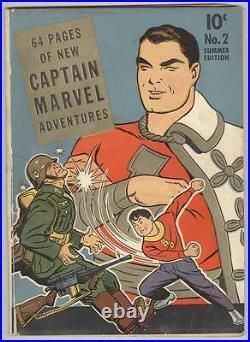 Captain Marvel Adventures #2 April 1941 VG WWII Cover