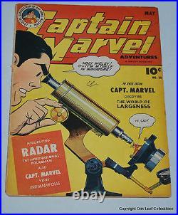 Captain Marvel Adventures 35 Golden Age Fawcett Comic Book 1944 VG