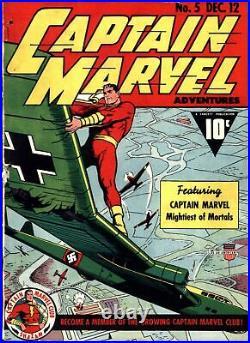 Captain Marvel Adventures #5 Golden Age Fawcett 1.0