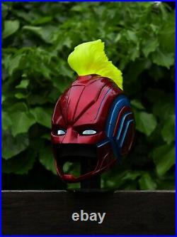 Captain Marvel Helmet replica, Real size, led lights comic con cosplay prop hero