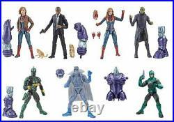 Captain Marvel Marvel Legends Kree Series Set of 7 Action Figures Build a figure