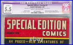 Captain Marvel Special Edition Comics #1 1940 CGC 5.5 R First Capt Marvel Comic