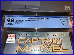 Captain Marvel The End #1 9.8 Peach Momoko Variant Marvel Comics