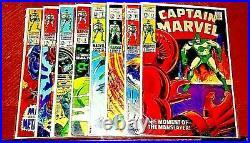 Captain Marvel #s 5,6,7,8,9,10,11. & 12! 8 Comic Book Lot! C Photo+descriptions