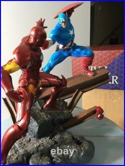 Civil War Captain America Vs Iron Man 15 Scale Custom Statue Diorama Marvel