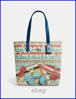 Coach Marvel Captain America Signature Canvas Tote Handbag Marvel Purse