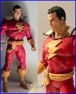 Custom McFarlane Shazam Captain Marvel figure 7 rebox look JLA DCU OOAK RARE