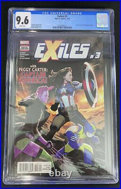 EXILES #3 CGC 9.6 1st Peggy Carter Captain America disney What If Marvel Comics