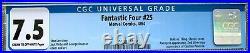 Fantastic Four #25 (1964) CGC 7.5 - Hulk vs. Thing cvr 2nd SA Captain America