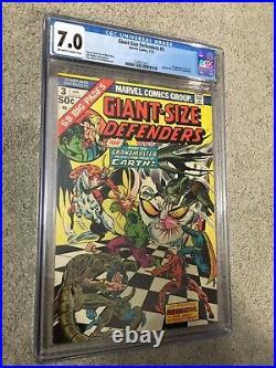 Giant-size Defenders #3 1st Korvac Mcu 1975 Cgc 7.0 Captain Marvel 2 Villian