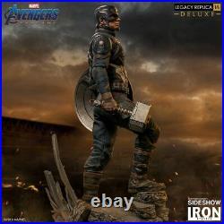 Iron Studios Marvel Avengers Endgame Captain America Deluxe Legacy Statue