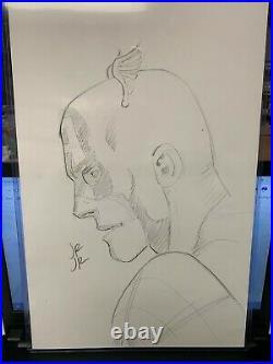 John Romita Jr Jrjr Sketch Original Art Of Captain America Shield Marvel Comic