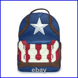 Loungefly x Marvel Collab Mini Backpack Captain America F/Shipping From Japan