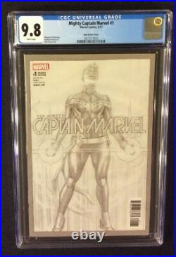 MIGHTY CAPTAIN MARVEL #1 Comic Book CGC 9.8 ALEX ROSS SKETCH VARIANT Cover 2017