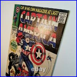 Marvel Captain America #100 1960s 1st Print Comic Book Signed Stan Lee Fan Expo