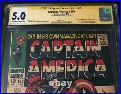 Marvel Comics CAPTAIN AMERICA #100 CGC 5.0 SIGNED BY CHRIS EVANS