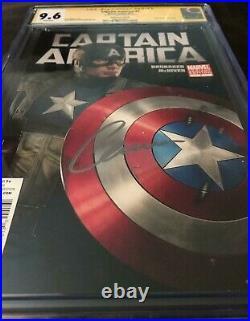 Marvel Comics CAPTAIN AMERICA #1 CGC 9.6 PHOTO VARIANT SIGNED BY CHRIS EVANS