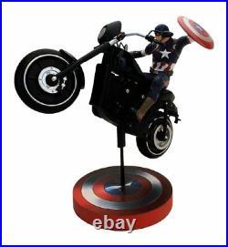 Marvel Comics Captain America Premium Motion Statue