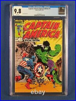 Marvel Comics Cgc 9.8 Captain America Special Edition 1 2/84 White Pages
