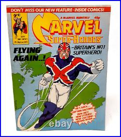 Marvel Comics Superheroes Monthly No. 377 1981, 1st App New Captain Britain RARE