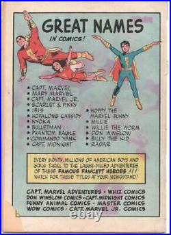 Marvel Family Comics 1 Fawcett 1945 GD 2.0 1st Black Adam Shazam Captain Mary