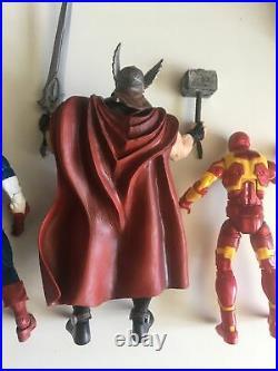 Marvel Legends Avengers Lot (Iron Man)(Captain America)(Thor)(Comic)(Hasbro)