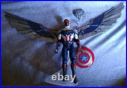 Marvel Legends Captain America Complete BAF Flight Gear Figure Falcon Disney MCU