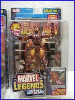 Marvel Legends Captain America Iron Man Series VIII 8 Lot of 2 Toy Biz 2004 NEW