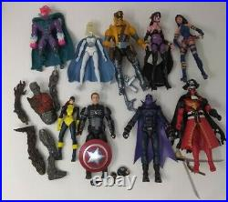 Marvel Legends Lot Captain America, Maverick, Emma Frost, Psylock 6 Action Figures