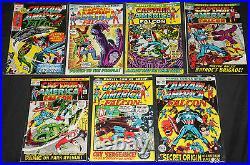 Marvel Silver-Bronze CAPTAIN AMERICA 17pc Count Comic Lot Grade FN-VF Avengers
