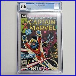 Marvel Spotlight v2 #1 CGC 9.6 White Pages Captain Marvel Marvel Comics 1979