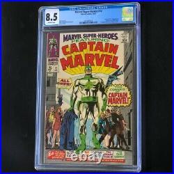 Marvel Super-Heroes #12 (1967) CGC 8.5 1st App of Captain Marvel! Comic