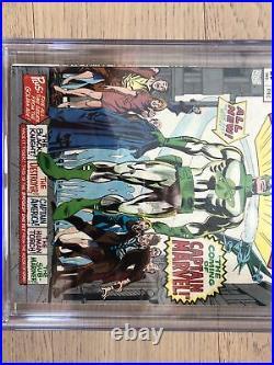 Marvel Super-Heroes #12 CGC 7.5 Colan 1st & Origin Captain Marvel Una & Yon-Rogg