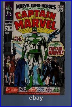 Marvel Super Heroes 12 Key Issue 1st Captain Marvel Silver Age Marvel Comics